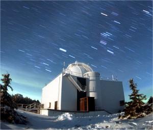 Das Gebäude des 1,5 m Teleskops auf dem Calar Alto
