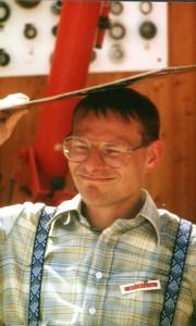 Hartmut Eckstein 1987 auf der Starkenburg-Sternwarte