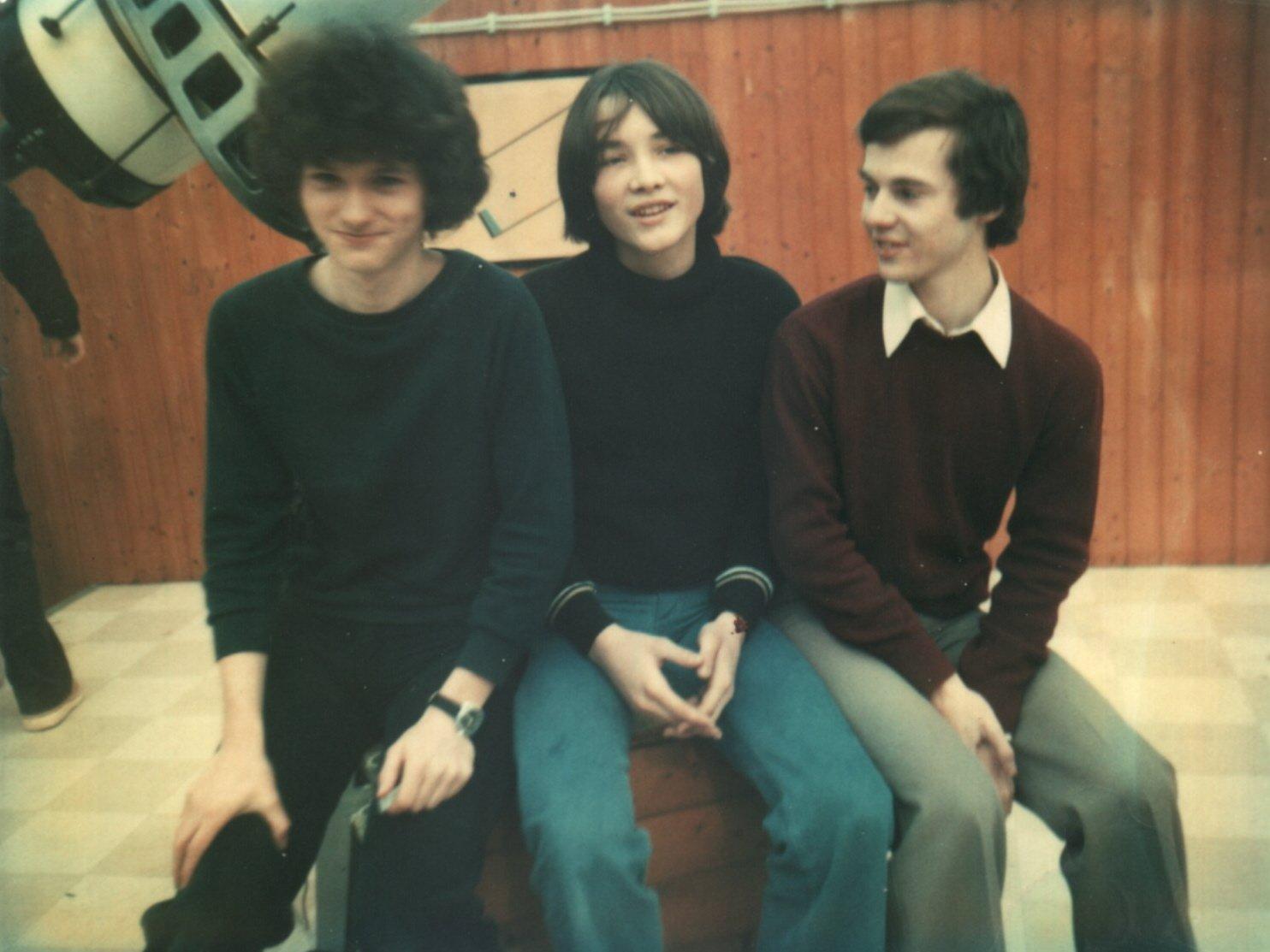 Preisträger des Astronomie-Jugendpreises 1980 der Starkenburg-Sternwarte. vlnr: Gerhard Iser (2.Preis), Erwin Schwab (1.Preis), Karl Spanowsky (3.Preis)
