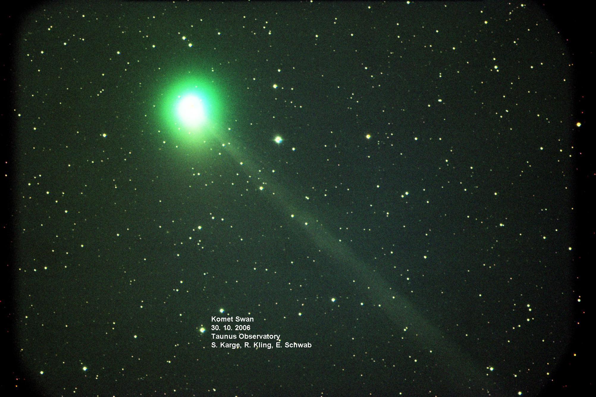Komet Swan am 30.10.2006 mit 0,6m-Cassegrain und SBIG STL 11000M