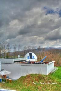 Starkenburg Sternwarte:  HDR Aufnahme mit Canon 350D