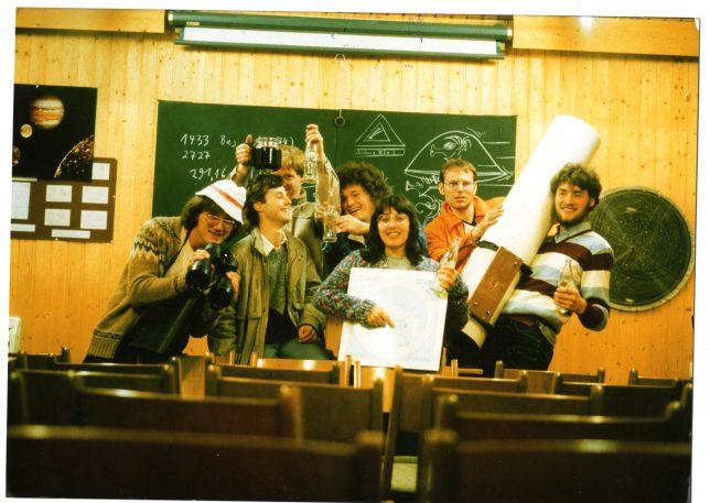 Die absolut misslungenste Beobachtungsnacht 1984 Foto: Hartmut Eckstein
